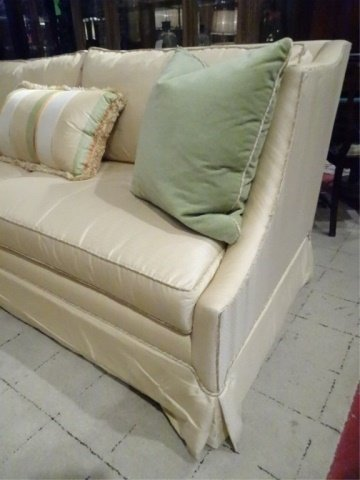 EJ VICTOR SOFA FOR ROBB & STUCKY, PALE YELLOW WITH PALE - 3
