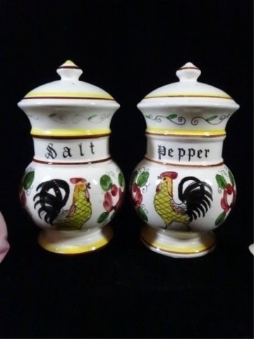 6 PC SALT & PEPPER SHAKERS, 3 PAIRS INCLUDE TALL ACSON - 5