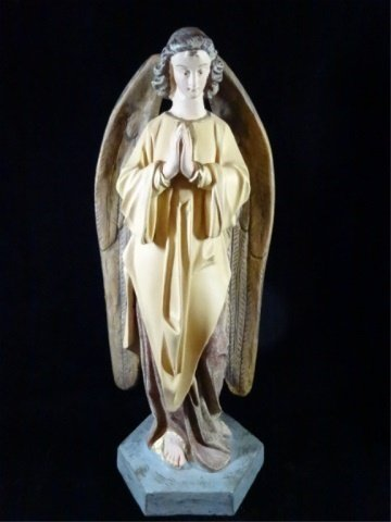 "PRAYING ANGEL SCULPTURE, COMPOSITION, APPROX 17.5""H"