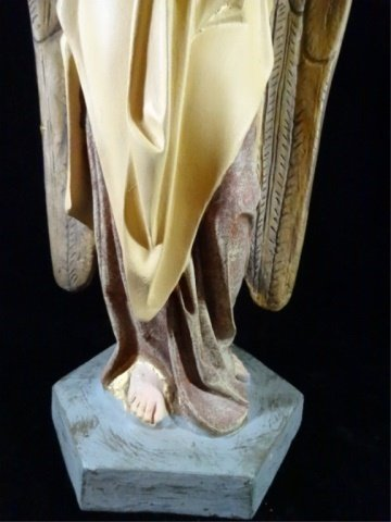 "PRAYING ANGEL SCULPTURE, COMPOSITION, APPROX 17.5""H - 3"