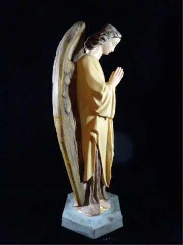 "PRAYING ANGEL SCULPTURE, COMPOSITION, APPROX 17.5""H - 6"