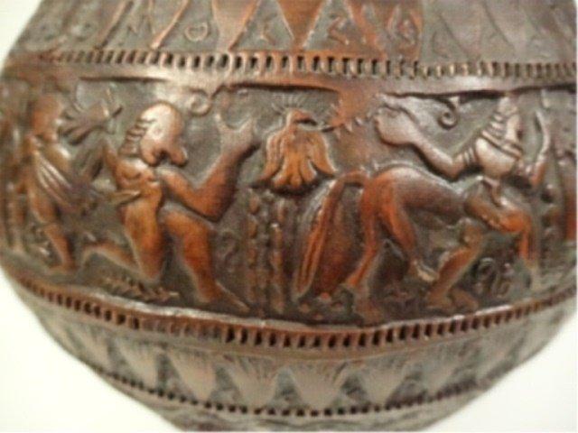 ART POTTERY VASE, GREEK FIGURAL SCENES, MADE IN GREECE, - 5