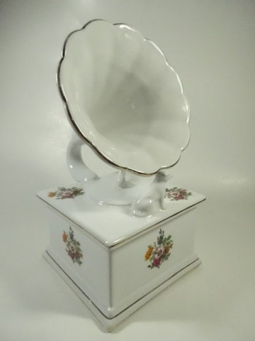 PORCELAIN BOX, VICTROLA / HIS MASTER'S VOICE, WHITE - 4
