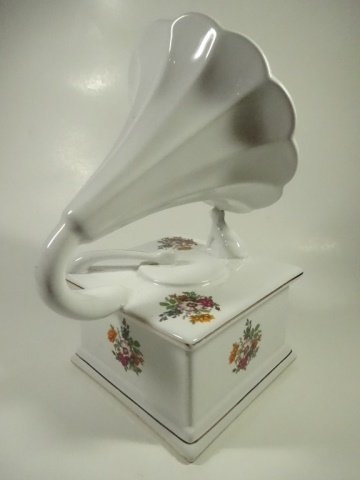 PORCELAIN BOX, VICTROLA / HIS MASTER'S VOICE, WHITE - 5