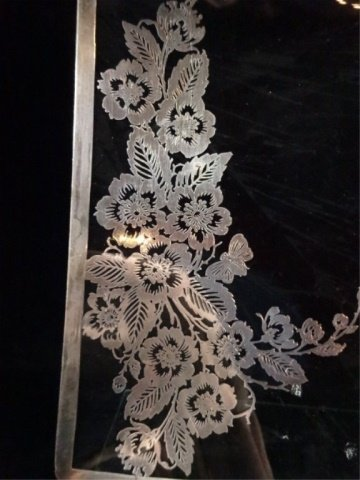 """SILVER OVERLAY TRAY, APPROX 15.75"""" X 10"""" - 2"""