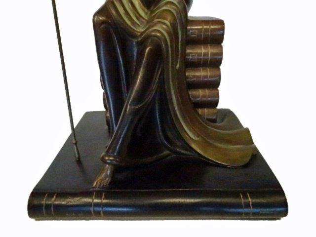 ERTE BRONZE SCULPTURE, JUSTICE AS A GODDESS SEATED ON A - 7