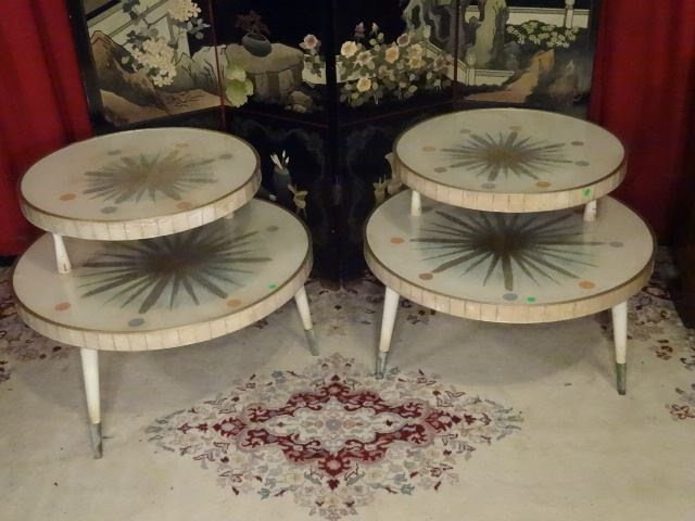 3 PC 1950's MID CENTURY MODERN TABLES, COFFEE AND PAIR - 4