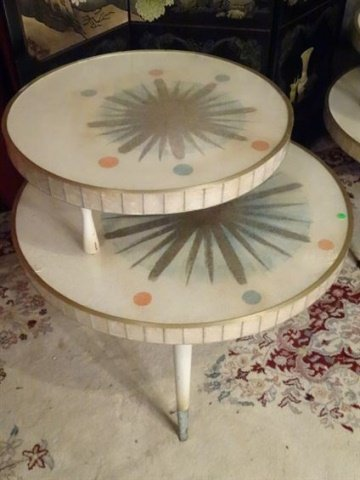 3 PC 1950's MID CENTURY MODERN TABLES, COFFEE AND PAIR - 5