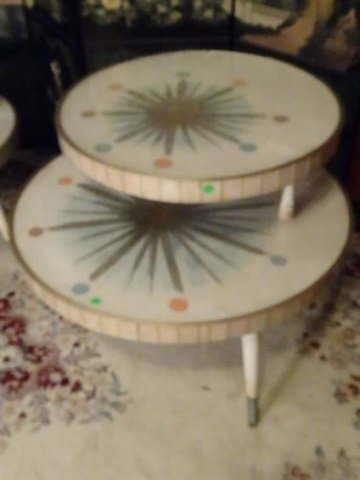 3 PC 1950's MID CENTURY MODERN TABLES, COFFEE AND PAIR - 6