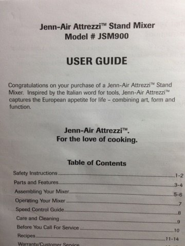 JENN-AIR ATTREZZI STAND MIXER, COPPER FINISH, MODEL - 6