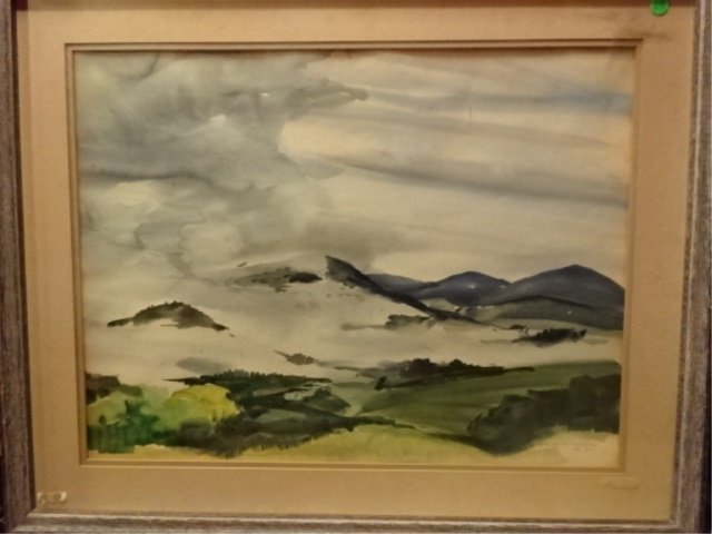AFTER WALTER B. COLEBROOK WATERCOLOR PAINTING, MOUNTAIN