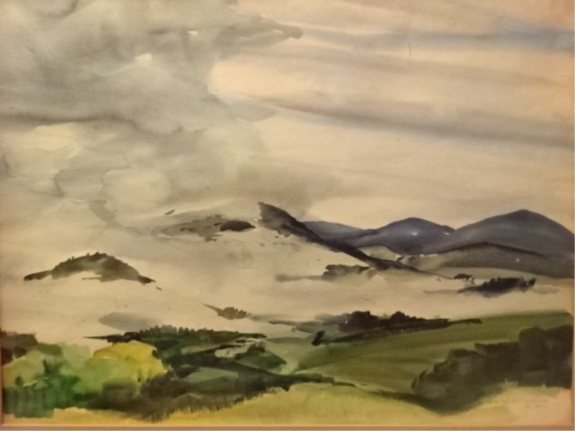 AFTER WALTER B. COLEBROOK WATERCOLOR PAINTING, MOUNTAIN - 2