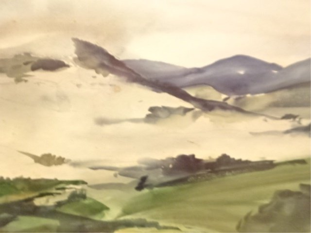 AFTER WALTER B. COLEBROOK WATERCOLOR PAINTING, MOUNTAIN - 4