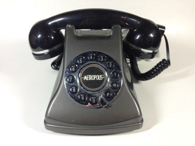 CONAIR METROPOLIS TELEPHONE, BLACK & SILVER