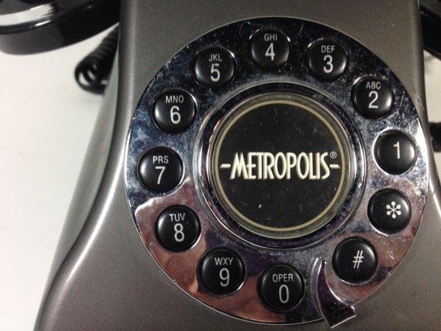 CONAIR METROPOLIS TELEPHONE, BLACK & SILVER - 2