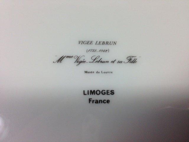 VIGEE LEBRUN PORTRAIT PLATE, LIMOGES FRANCE, IMAGE OF - 4
