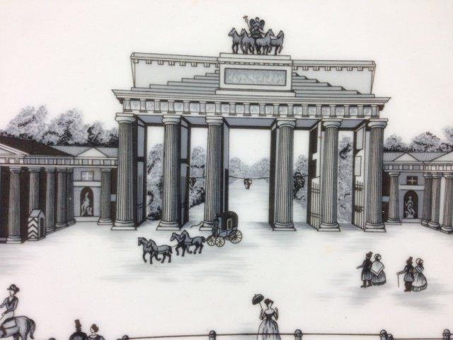 KPM PRINT PORCELAIN PLATE, BERLIN, DAS BRANDENBURGER - 2