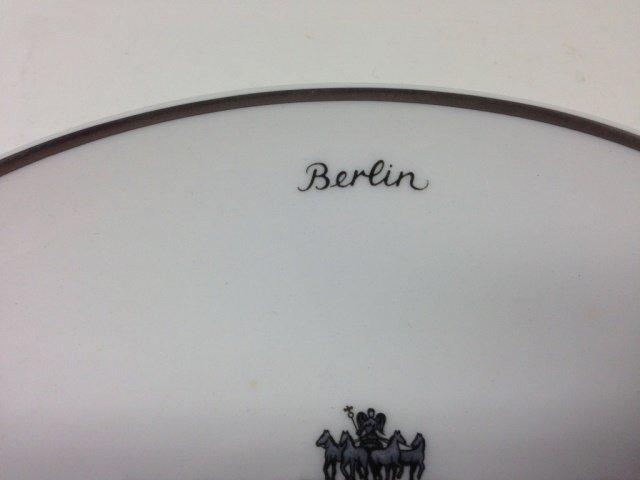 KPM PRINT PORCELAIN PLATE, BERLIN, DAS BRANDENBURGER - 3