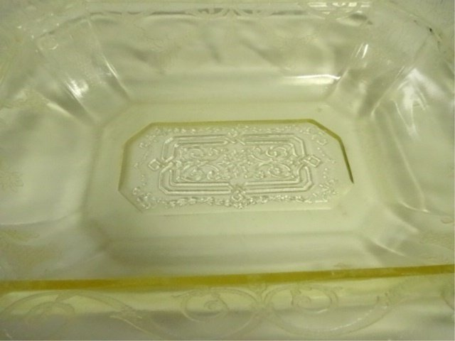 15 PC YELLOW DEPRESSION GLASS, INCLUDES INDIANA GLASS - 2