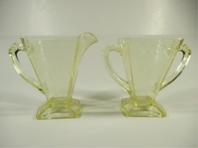 15 PC YELLOW DEPRESSION GLASS, INCLUDES INDIANA GLASS - 4