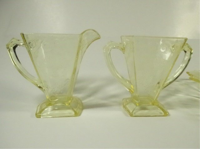15 PC YELLOW DEPRESSION GLASS, INCLUDES INDIANA GLASS - 9
