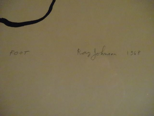 RAY JOHNSON (1927-1995) SIGNED LIMITED EDITION - 6