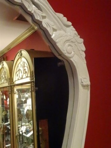 2 PC LOUIS XV STYLE CONSOLE AND MIRROR, MARBLE TOP, NEW - 3