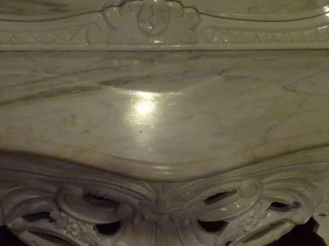 2 PC LOUIS XV STYLE CONSOLE AND MIRROR, MARBLE TOP, NEW - 4
