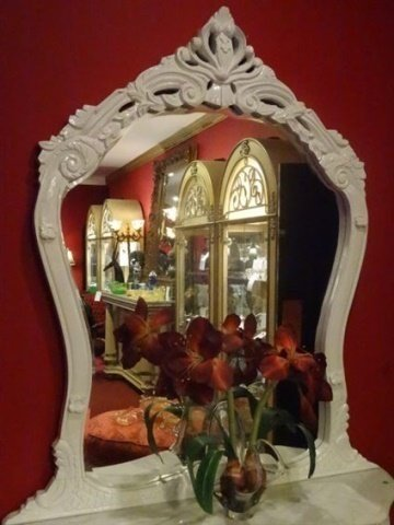 2 PC LOUIS XV STYLE CONSOLE AND MIRROR, MARBLE TOP, NEW - 6