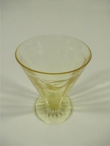"""13 PC YELLOW DEPRESSION GLASS GLASSES (4.75""""H), ANCHOR - 7"""