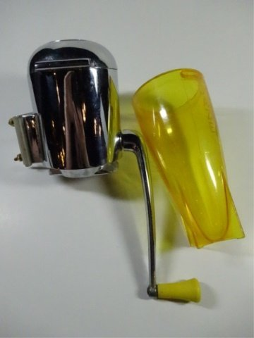 2 PC MID CENTURY DAZEY ICE CRUSHER & CAN OPENER, WITH 1 - 8