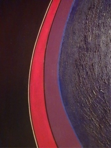 SR YOCOM SIGNED ABSTRACT OIL ON CANVAS PAINTING, - 3
