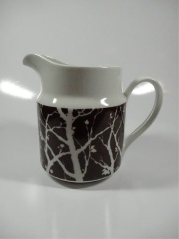 "PITCHER WITH TREE DESIGN, MADE IN JAPAN, APPROX 6""H"