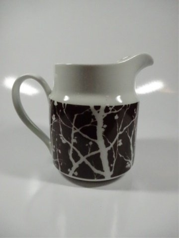 "PITCHER WITH TREE DESIGN, MADE IN JAPAN, APPROX 6""H - 2"