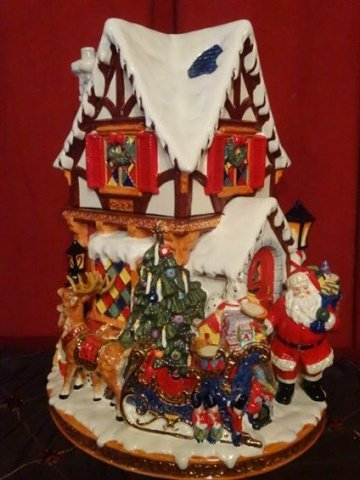 LARGE CHRISTOPHER RADKO CHRISTMAS COOKIE JAR, PAINTED