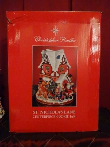 LARGE CHRISTOPHER RADKO CHRISTMAS COOKIE JAR, PAINTED - 9