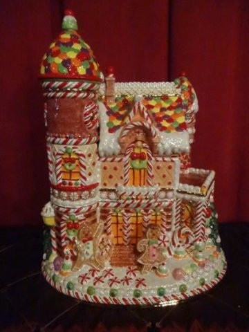 LARGE CHRISTOPHER RADKO CHRISTMAS COOKIE JAR, PAINTED - 2