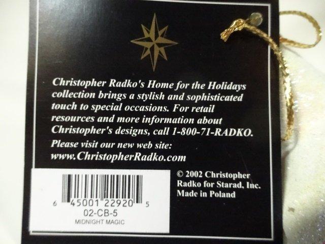 CHRISTOPHER RADKO 3 PC 2002 MIDNIGHT MAGIC CHRISTMAS - 7