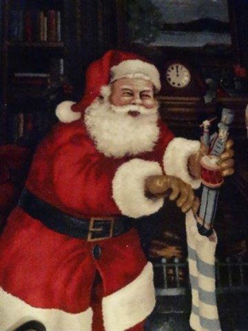 SANTA CHRISTMAS RUG BY RONNIE MAGEE, SANTA FILLING - 2