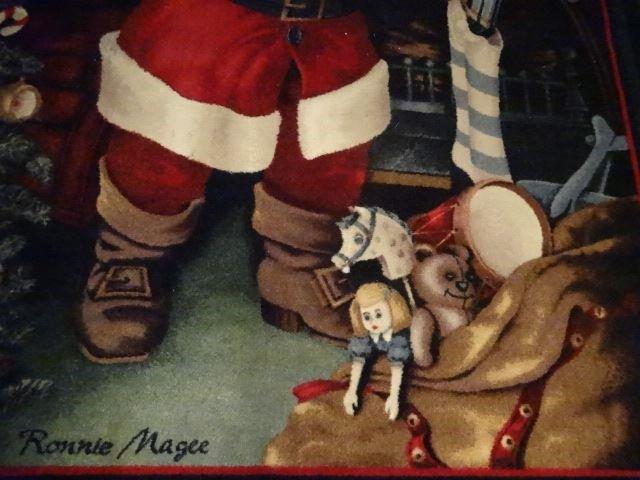 SANTA CHRISTMAS RUG BY RONNIE MAGEE, SANTA FILLING - 3