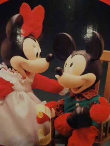 LARGE ANIMATED CHRISTMAS MICKEY MOUSE AND MINNIE MOUSE - 3