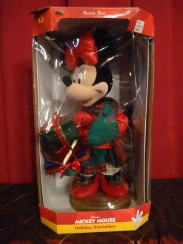 LARGE ANIMATED CHRISTMAS MINNIE MOUSE, WALT DISNEY, IN