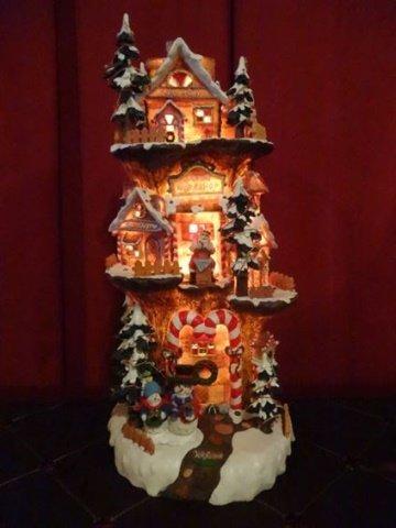 DEPT. 56 LIGHTED CHRISTMAS DECOR, SANTA'S WORKSHOP,