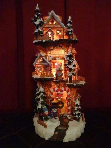 DEPT. 56 LIGHTED CHRISTMAS DECOR, SANTA'S WORKSHOP, - 2