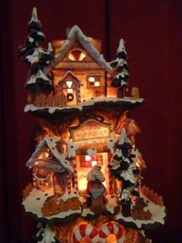 DEPT. 56 LIGHTED CHRISTMAS DECOR, SANTA'S WORKSHOP, - 3