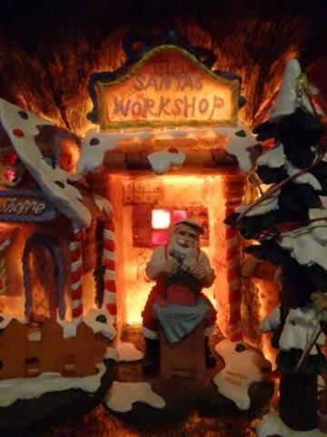 DEPT. 56 LIGHTED CHRISTMAS DECOR, SANTA'S WORKSHOP, - 6