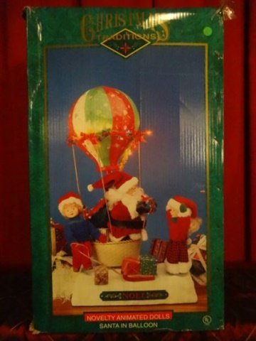 LARGE ANIMATED CHRISTMAS SANTA FIGURE, SANTA WITH HOT