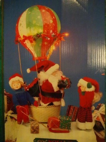 LARGE ANIMATED CHRISTMAS SANTA FIGURE, SANTA WITH HOT - 2