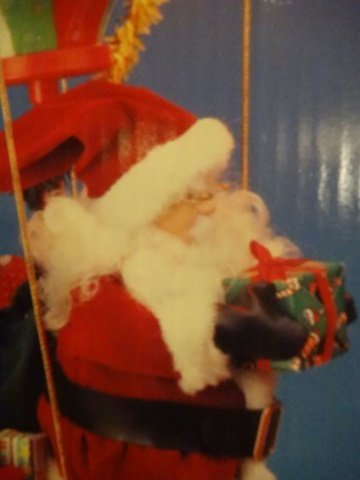 LARGE ANIMATED CHRISTMAS SANTA FIGURE, SANTA WITH HOT - 5