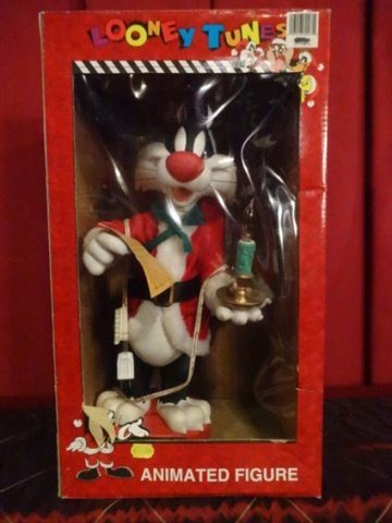 LARGE ANIMATED CHRISTMAS SYLVESTER CAT, LOONEY TUNES,